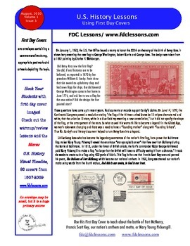 Newsletter - Betsy Ross and the Star Spangled Banner Flag