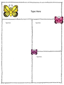 Newsletter -Butterfly Theme -Editable