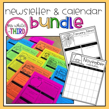 Newsletter & Calendar Templates BUNDLE! (Editable)