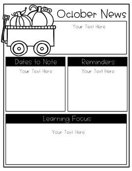 Newsletter & Calendar Templates BUNDLE! (Editable)
