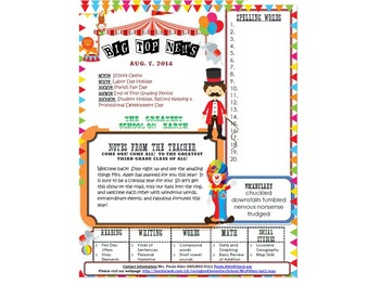 Newsletter Circus Theme 1