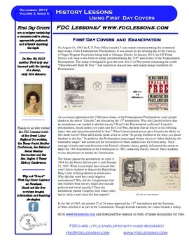 Newsletter,- Emancipation & 13th Amendment