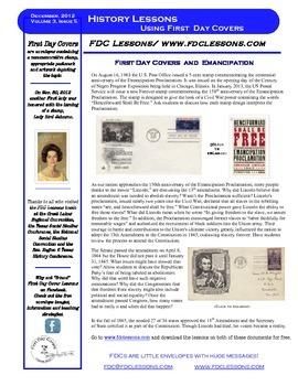 Newsletter,- Emancipation & 13th Amendment