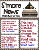 Newsletter EDITABLE Text - Happy Campers Decor