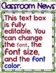 Newsletter EDITABLE Text - Little Monsters Decor