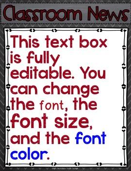 Newsletter EDITABLE Text - Pirates Decor