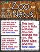 Newsletter EDITABLE Text - Zoo Animals Decor