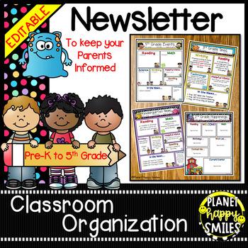 Newsletter (Editable) Monster Theme