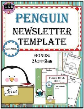 Newsletter Editable Template - Penguin Theme