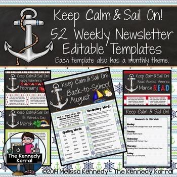 Editable Newsletter Template: Anchors