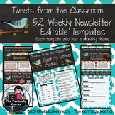 Editable Newsletter Template: Birds