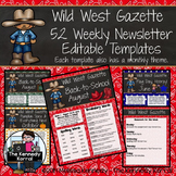 Editable Newsletter Template: Western