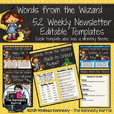Editable Newsletter Template: Wizard of Oz