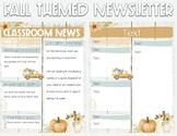Newsletter - Fall Theme