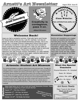 Newsletter For August-September Beginning of the Year