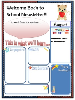 Newsletter Format In English and Spanish