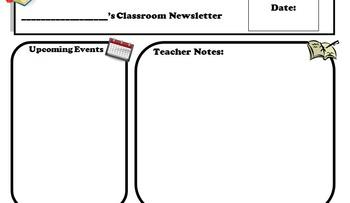Newsletter Format- editable