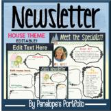 Classroom Newsletter Template Editable / Meet the Teacher Editable