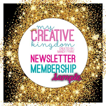 Newsletter Membership Sample