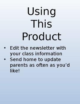 Newsletter Mint Chevron EDITABLE