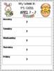 Newsletter (My Week) Editable Templates - April