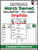 Newsletter (My Week) Editable Templates - March