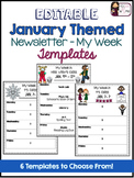 Newsletter (My Week) Editable Templates - January
