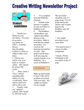 Newsletter Project-Expository, Research and Creative Writing Handout