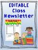 Newsletter Rainbow Chevron EDITABLE
