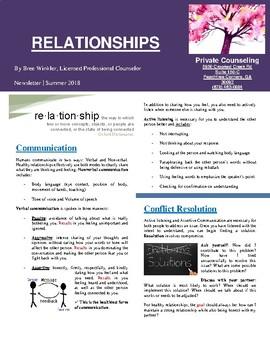 Newsletter: Relationships
