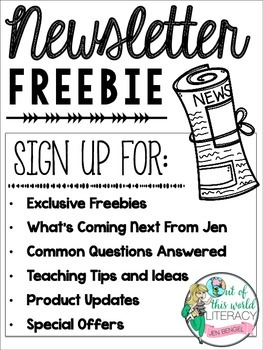 Newsletter Sign Up for Exclusive Freebies and So Much More!