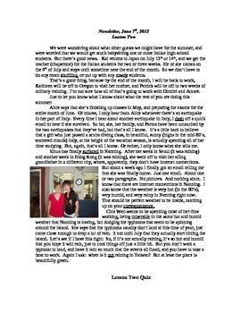 """Newsletter  """"Summer"""" 1st of 4"""