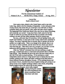 "Newsletter ""Summer"" 4th of 4"