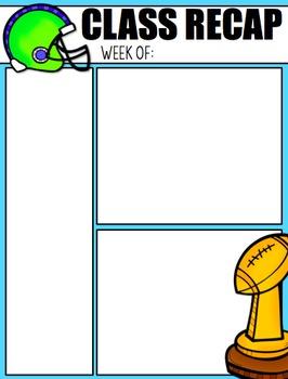 Football Classroom Newsletter