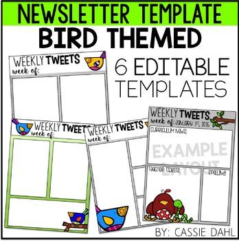 Bird Classroom Newsletter