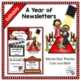 Movie Star Editable Newsletter Template