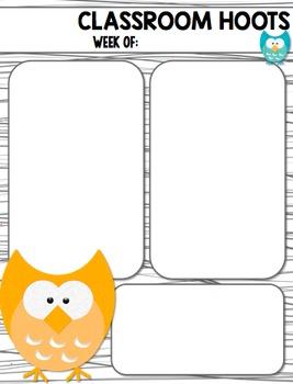 Owl Classroom Newsletter