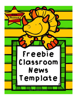 Newsletter Template for Preschool, Kindergarten, and First