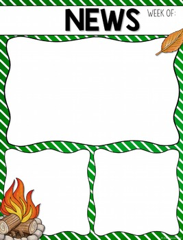 Camping Classroom Newsletter