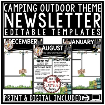 Editable Newsletter Templates - Camp Theme