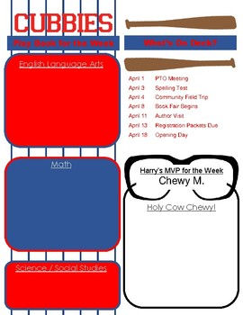 Newsletter Template + Chicago Cubs Theme
