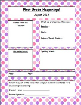 Newsletter Template - Dots, Stripes, and Plaids