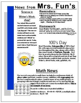 Newsletter Template - EDITABLE - Blue Theme