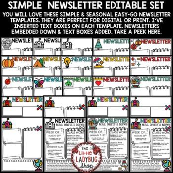 Black & White Theme- Newsletter Templates Editable