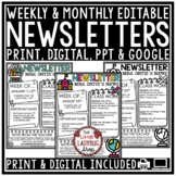 Black & White Theme- Monthly & Weekly Newsletter Templates Editable