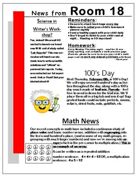 Newsletter Template - EDITABLE - Red Theme