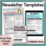 Newsletter Template (Editable) - PP & Google Slides