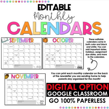 original-4585510-4 Technology Newsletter With Calendar Template Editable on google free, elementary school, free energy, owl classroom, for student, december classroom, parent weekly, free community, monthly classroom, downloadable digital,