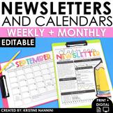 Newsletter Template Editable - Calendar - Parent Communica