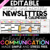 Monthly and Weekly Newsletter Template Editable - Calendar